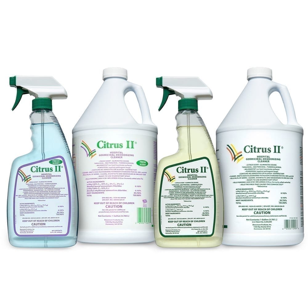 Hospital Germicidal Deodorizing Cleaners